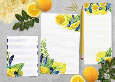 Blueberry Lemonade Notepad Set