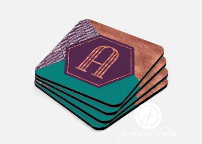 Fall Monogram Coaster