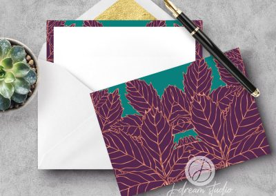 Metallic Maple A2 Flat Notecard