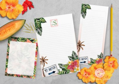 Tropical Notepad Set