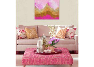 Pink Gilded Peaks